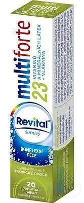 Revital multiforte šumivý tbl eff s príchuťou tropické ovocie 1x20 ks