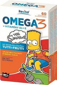 Revital OMEGA 3 + VITAMÍNY D3 + E The Simpsons žuvacie kapsuly 1x60 ks