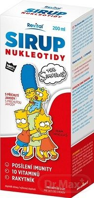 Revital SIRUP NUKLEOTIDY The Simpsons s príchuťou jahody 1x200 ml