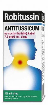 Robitussin ANTITUSSICUM sir (liek.skl.) na suchý dráždivý kašeľ 1x100 ml