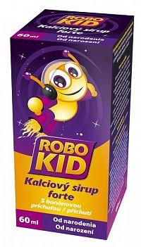RoboKid Kalciový sirup forte s banánovou príchuťou od narodenia 1x60 ml
