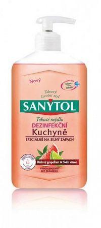 SANYTOL Tekuté mydlo Kuchyňa dezinfekčné, Ružový grepfruit a citrón, 1x250 ml