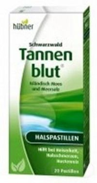 Schwarzwald Tannenblut pastilky na hrdlo 1x20 ks