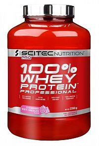 Scitec - Whey Protein Prof. - príchuť jahôd s bielou čokoládou 2350g