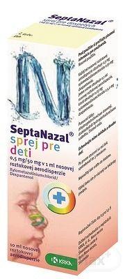 Septanazal sprej pre deti aer nao (fľ.HDPE s rozpr.) 1x10 ml