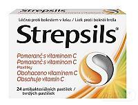 Strepsils Pomaranč s vitamínom C pas ord 1x24 ks