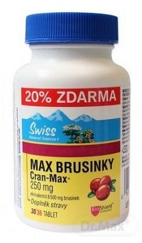 SWISS MAX BRUSNICE Cran-Max tbl 250 mg (20 % ) 1x36 ks