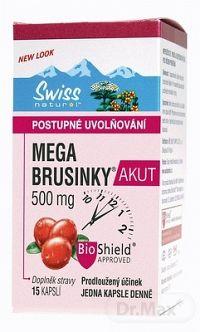 SWISS MEGA BRUSNICE AKUT cps (500 mg, postupné uvolňovanie) 1x15 ks