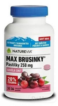 SWISS NATUREVIA MAX BRUSNICE 250 mg pastilky (20% ) 1x36 ks