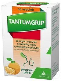 TANTUMGRIP s pomarančovou príchuťou plo por 600 mg/10 mg, vrecká 1x10 ks