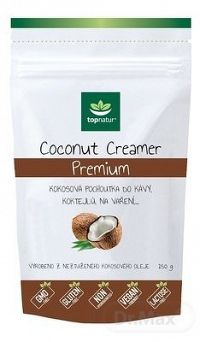 topnatur COCONUT CREAMER Premium kokosová pochúťka do kávy, prášok, 1x150 g