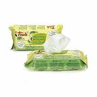 Trudi Baby Nature hypoalergénne bavlnené čistiace vlhčené obrúsky s výťažkami z hlohu a horčeka 1x64 ks