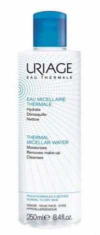 Uriage Eau Micellaire Thermale micelárna čistiaca voda pre normálnu až suchú pleť Purifies Removes Make-up Cleanses 250 ml
