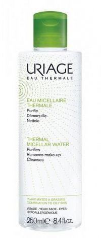 Uriage Eau Micellaire Thermale micelárna čistiaca voda pre zmiešanú a mastnú pleť (Purifies, Removes Make-up, Cleanses) 250 ml