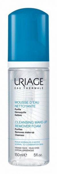 Uriage Hygiène čistiaca a odličovacia pena pre normálnu až zmiešanú pleť (Cleansing Make-up Remover Foam) 150 ml