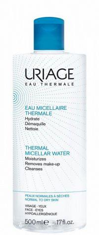 Uriage Hygiène micelárna voda pre normálnu až zmiešanú citlivú pleť Make-up Remover Water 500 ml