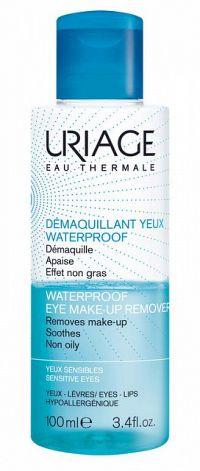 Uriage Hygiène odličovač vodeodolného make-upu pre citlivé oči (Removes Make-up Soothes Non Oily) 100 ml