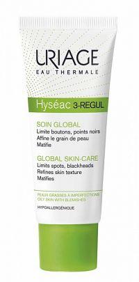 Uriage Hyséac 3-Regul zmatňujúci krém proti čiernym bodkám (Limits Spots, Blackheads, Refines Skin Texture Matifies) 40 ml