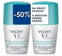 VICHY DEO ANTI-TRANSPIRANT 48H Intense Duo Hypoallergenic (50% na druhý produkt) 2x50 ml, 1set