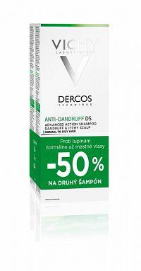 Vichy dercos Anti-pelliculaire Šampón proti lupinám na mastné vlasy 2 x 200 ml
