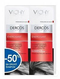 VICHY DERCOS ENERGISANT DUO posilňujúci šampón s aminexilom (-50% na druhý produkt), 2x200 ml, 1x1 set