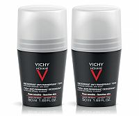 VICHY HOMME DEO ROLL-ON PROTI POTENIU DUO 72H antiperspirant, 2x50 ml