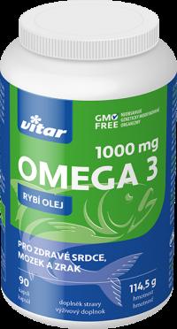 Vitar Omega 3 Rybí olej 1000mg 90 kusov