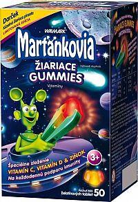 WALMARK Marťankovia žiariace gummies želatínové tablety 50 ks + svietiaca pinzeta , 1x1 set
