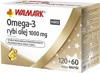 WALMARK Omega-3 FORTE rybí olej (inov. obal 2018) cps 120+60 navyše (180 ks)