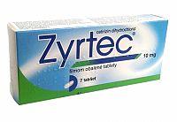 ZYRTEC 10 mg, 7 tabliet