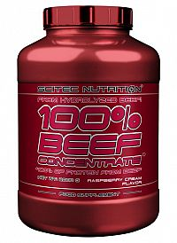 100% BEEF Concentrate - Scitec Nutrition 2000 g Malinový krém