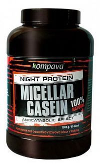 100% Natural Micellar Casein - Kompava 500 g čoko/pomaranč