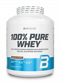 100% Pure Whey - Biotech USA 2270 g dóza Čokoláda+Arašidové maslo