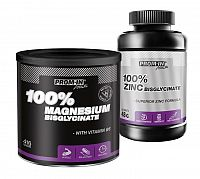 Akcia: 100% Magnesium Bisglycinate + 100% Zinc Bisglycinate - Prom-IN 416 g + 120 kaps. Grapefruit