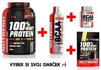 Akcia: 100% Whey Protein - Nutrend 2250 g + 1000 ml. Čokoláda
