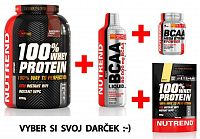 Akcia: 100% Whey Protein - Nutrend 2250 g + 1000 ml. Čučoriedka