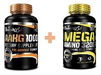 Akcia: A-AKG 1000 + Mega Amino 3200 - Biotech USA