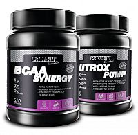 Akcia: BCAA Synergy + Nitrox Pump - Prom-IN 550 g + 750 g Orange