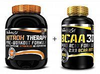 Akcia: NitroX Therapy New + BCAA 3D Zadarmo - Biotech USA 680 g + 90 kaps. Broskyňa