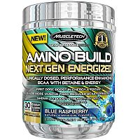 Amino Build Next Gen Energized - Muscletech 280 g (30 dávok) Blue Raspberry