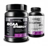 BCAA Synergy + Creatin HCL Zadarmo - Prom-IN 550 g + 240 kaps. Cola
