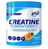 Creatine Monohydrate práškový - 6PAK Nutrition 500 g Orange