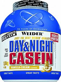 Day&Night Casein - Weider 1800 g Red Berry Cream