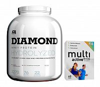 Diamond Hydrolysed Whey Protein - Fitness Authority 2270 g Strawberry
