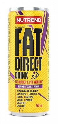 Fat Direct Drink (spaľovač plus pumpa) - Nutrend 250 ml. Blackberry