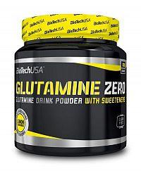 Glutamine Zero - Biotech USA 600 g Broskyňa+Ľadový čaj