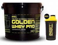 Golden Whey Pro + Šejker Zadarmo od Best Nutrition 2,25 kg Čokoláda+Banán