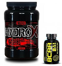 Hydro X + BCAA 2:1:1 Zadarmo od Best Nutrition 1000 g + 120 kaps. Čokoláda