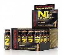 N1 Pre-Workout Shot - Nutrend 20x60 ml. Orange