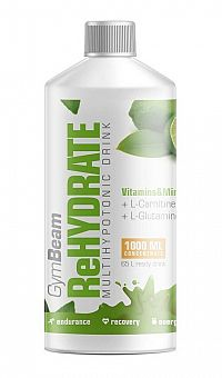 ReHydrate - GymBeam 1000 ml. Lemon Lime